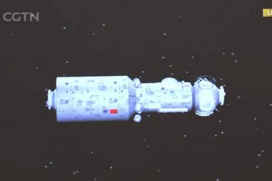 chine lance succes premier module future station spatiale