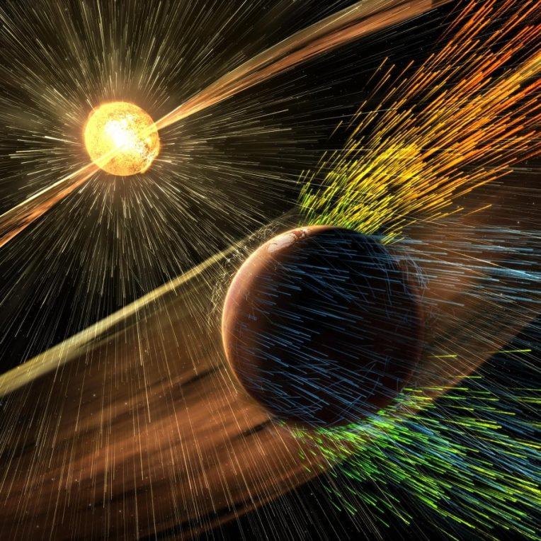 comment champ magnetique martien a disparu