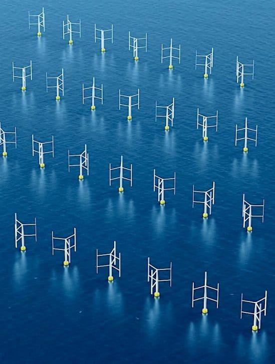 eoliennes verticales plus-efficaces dans parcs eoliens
