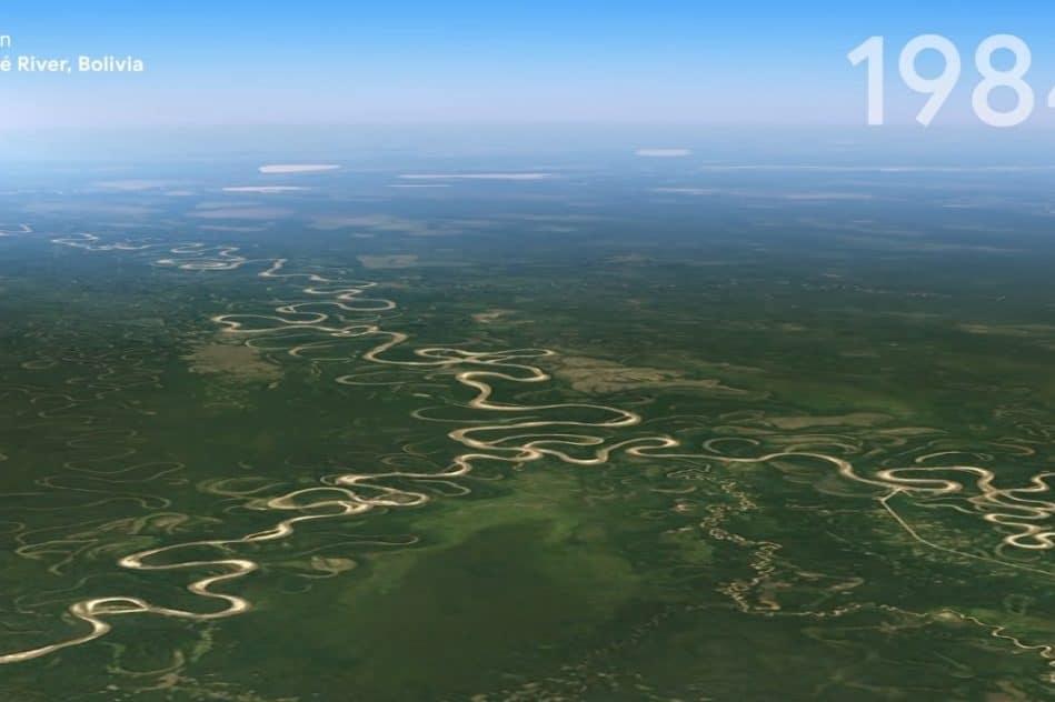 google earth permet visualiser effets changement climatique depuis 1984