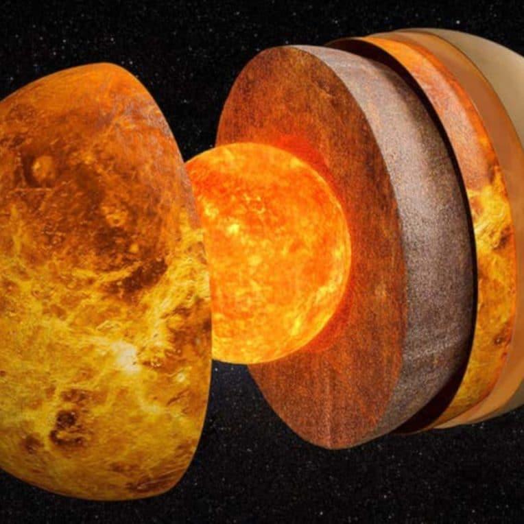 mesure taille noyau Vénus