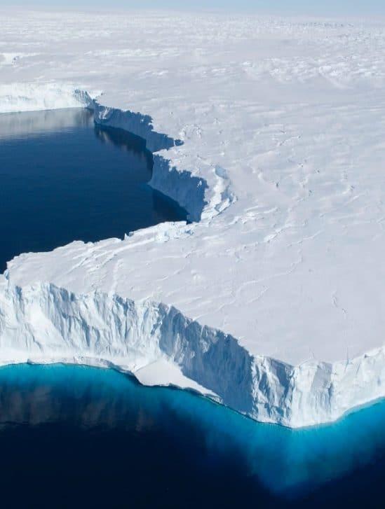 rechauffement climatique tiers plateformes glace antarctique menace effondrer