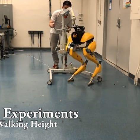 robot bipede apprend marcher par lui meme