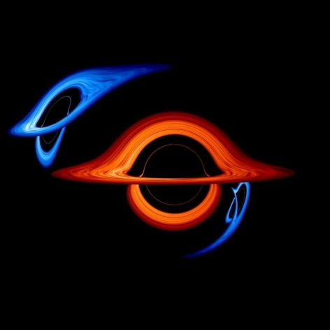 simulation montre impressionnantes deformations optiques systeme binaire trous noirs