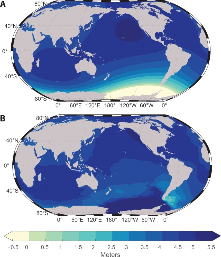 changements niveau mer