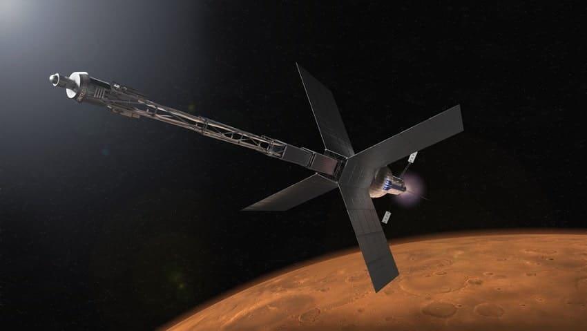concept artistique vaisseau propulsion nucleaire