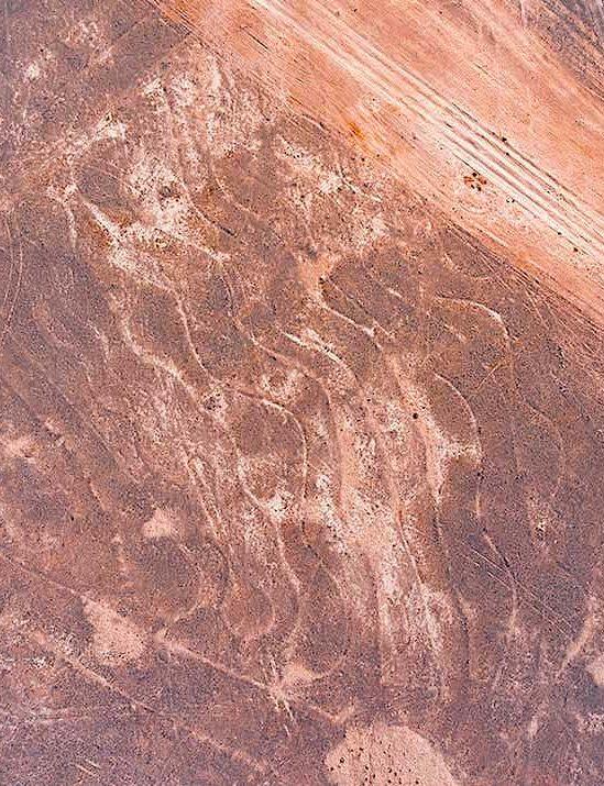 enorme spirale découverte desert indien plus grand dessin jamais realise
