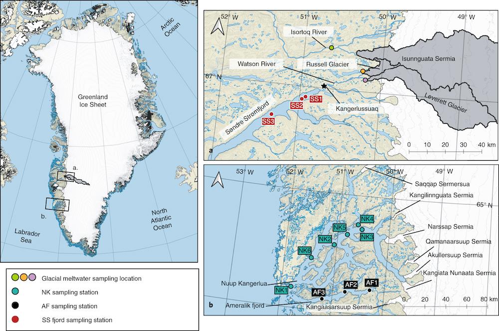 fuite mercure calotte glaciaire groenland carte