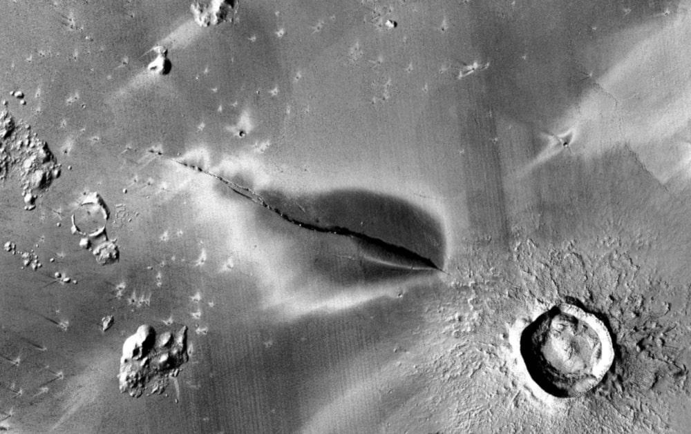 gisement volcanique mars