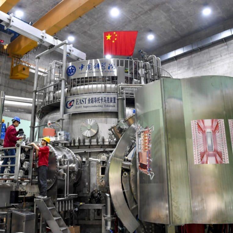 record température réacteur fusion chine