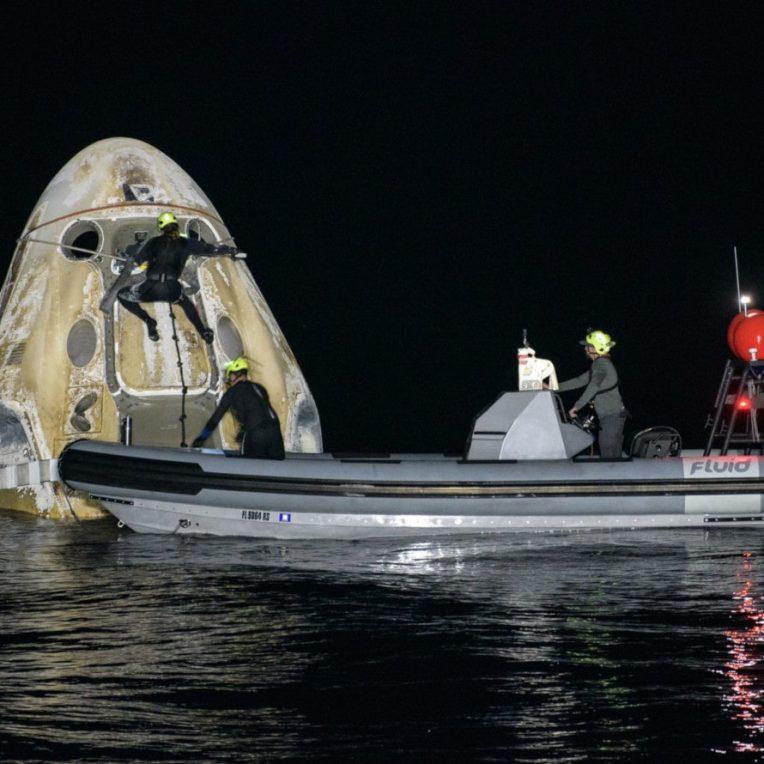 retour capsule Crew-1 SpaceX
