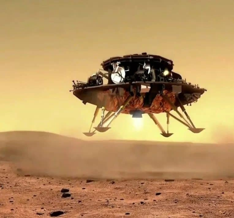 rover chinois zhurong pose avec succes mars