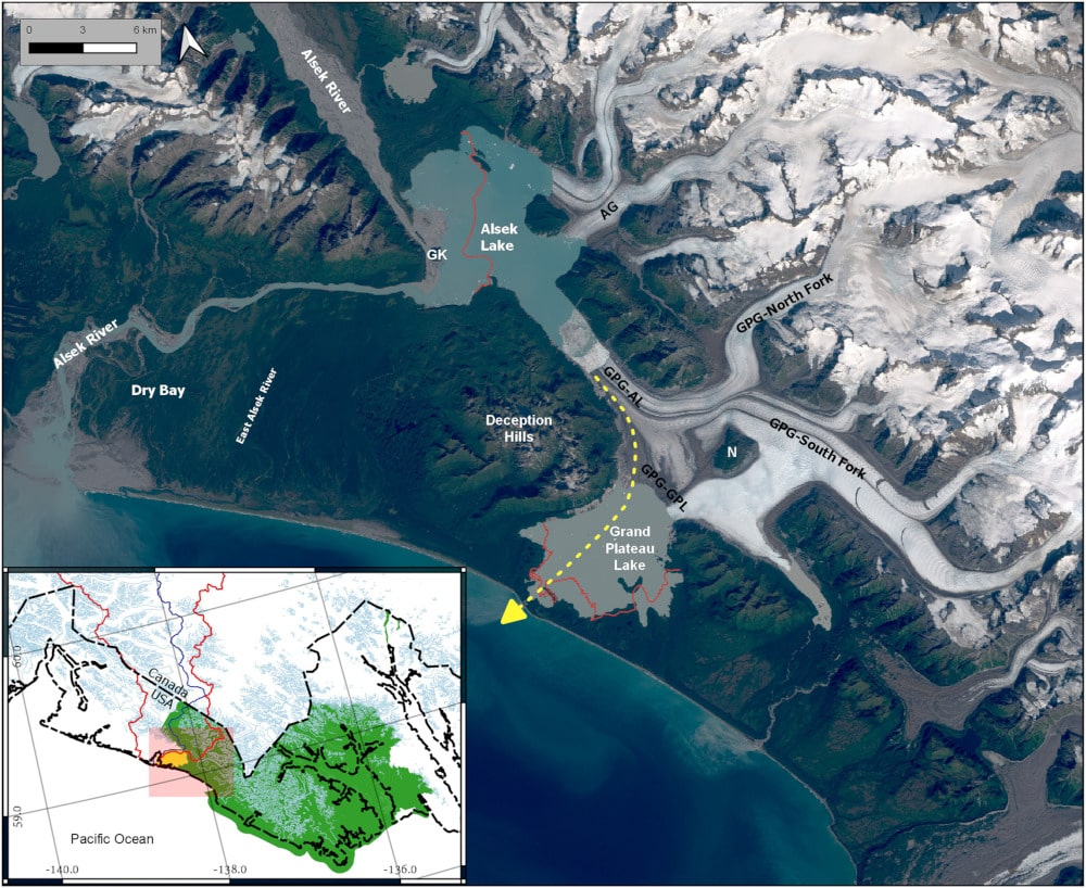 détournement rivière fonte glacier