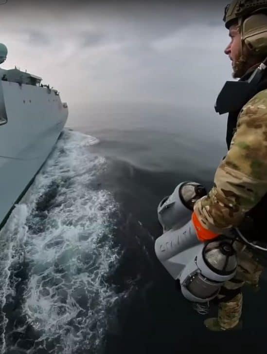 test jet pack armée britannique Gravity Industries