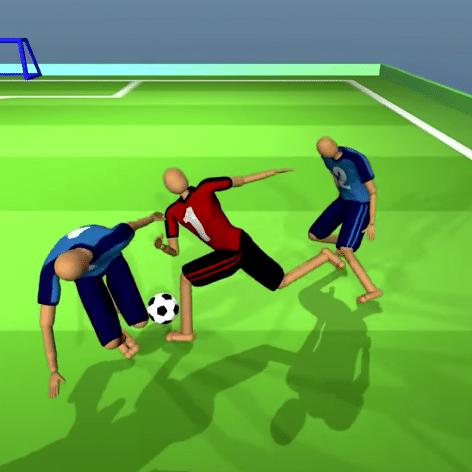 deepmind ai appris personnages virtuels jouer football a partir zero
