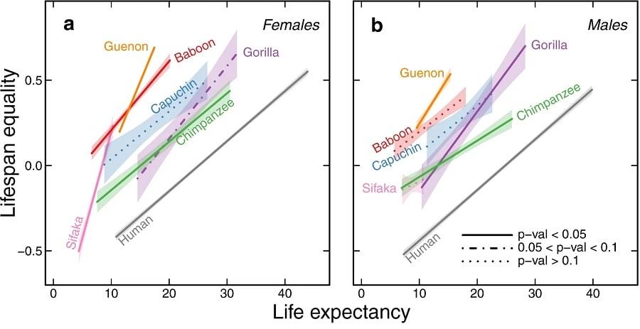 graphique egalite esperance de vie
