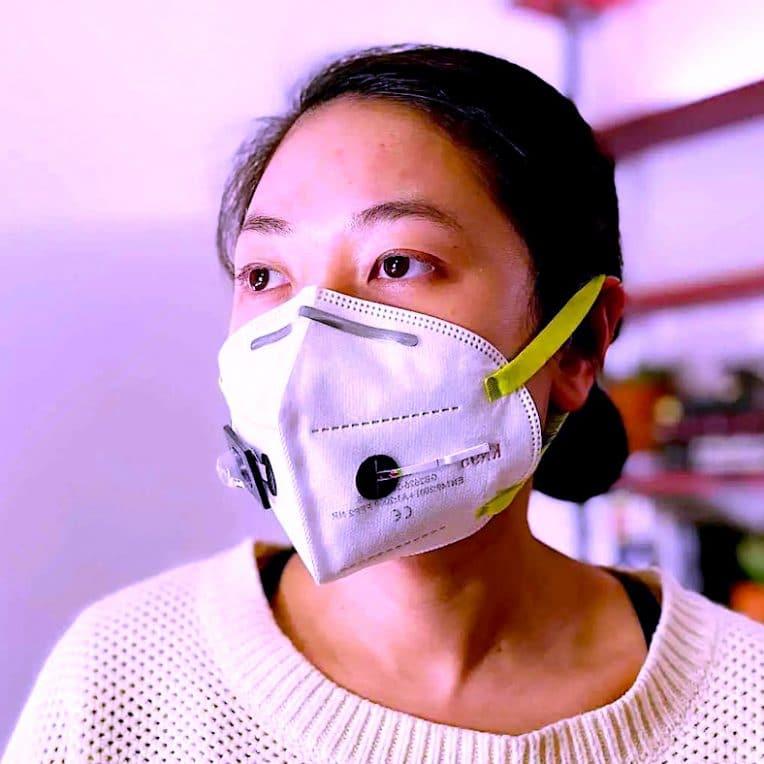 masque facial permettant detecter covid-19
