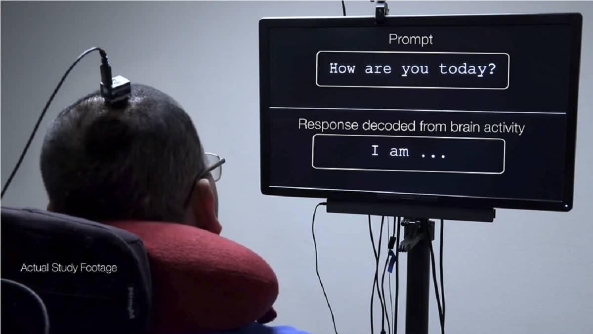 Pour la première fois, l'activité cérébrale d'un patient paralysé a été convertie en texte