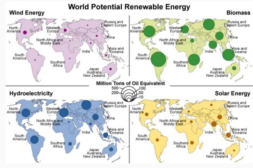 carte energies renouvelables potentiel production