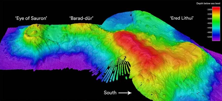 carte topologique ocean oeil sauron