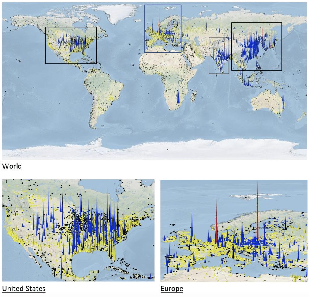 cartes emissions co2 centrales electriques fossiles monde