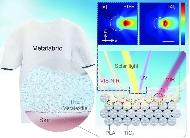 composition comportement metatissu lumiere solaire