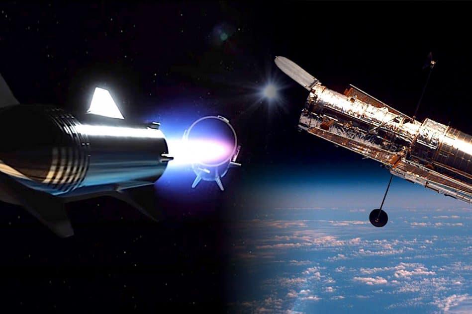 elon musk suggere transformer vaisseau starship en telescope spatial geant