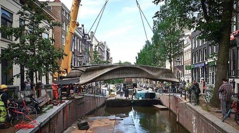 inauguration premier pont acier imprime 3d au monde amsterdam