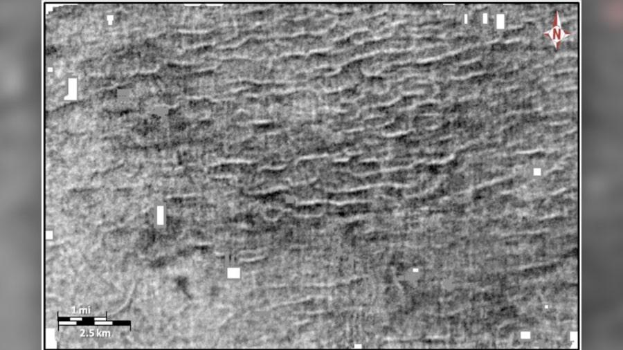 ondulations fossiles lac