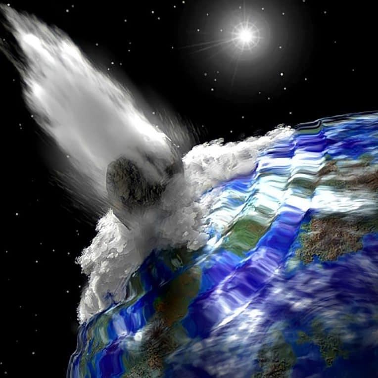 ondulations tsunami impact astéroïde