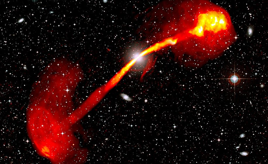 telescope meerkat capture image epoustouflante radiogalaxie