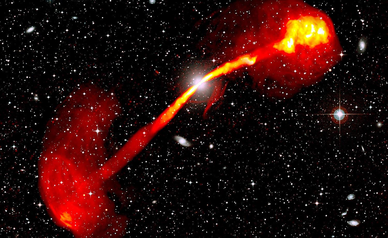 Le télescope MeerKAT capture une image époustouflante d'une radiogalaxie
