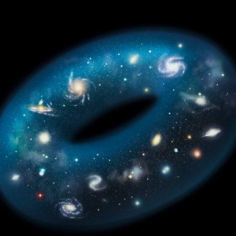 univers pourrait avoir forme donut 3d couv