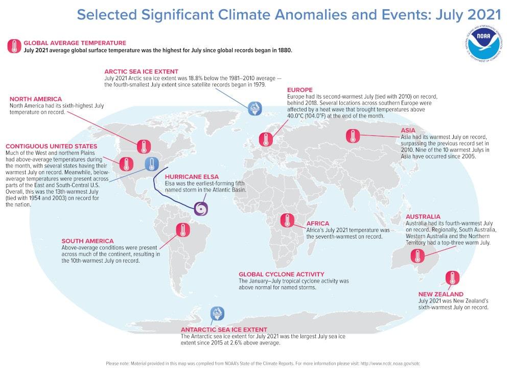 événements climatiques monde juillet 2021