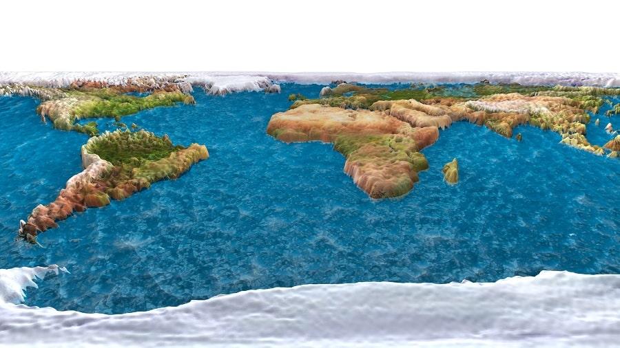 carte terre plate