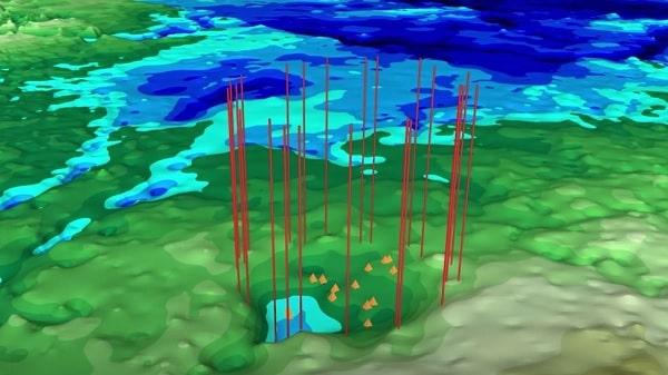 cratere calotte glaciaire groenland