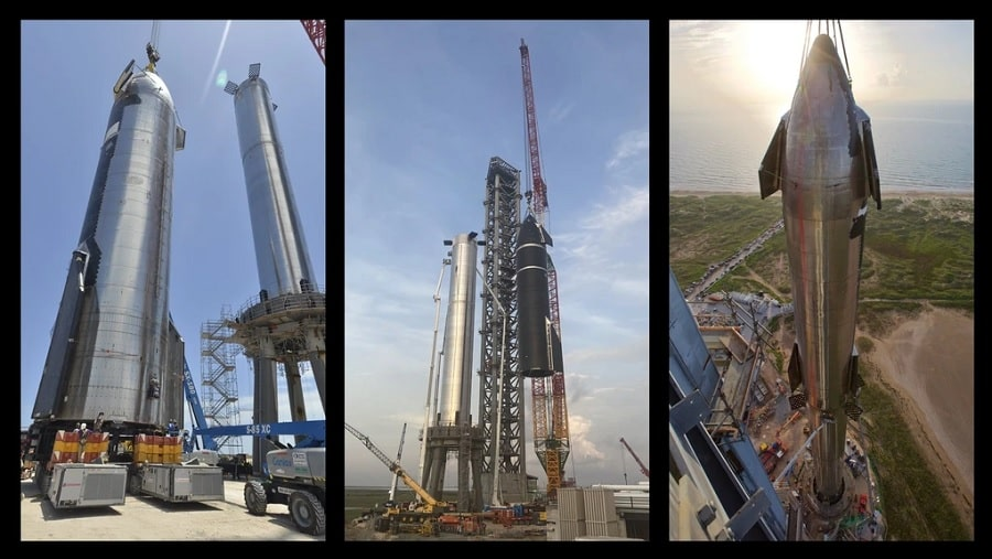 etapes assemblage starship super heavy