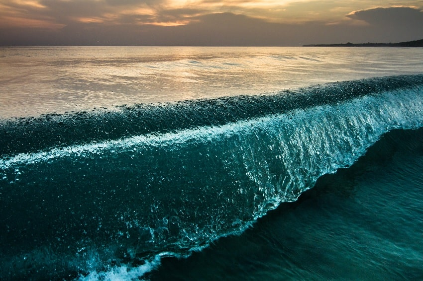 ocean centre terre plate