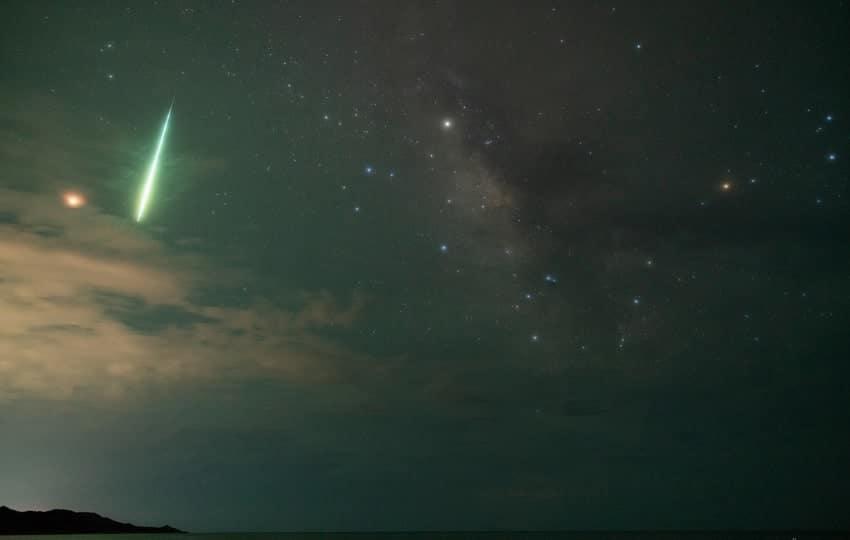 photo mphoto meteore vert mexicoeteore vert mexico