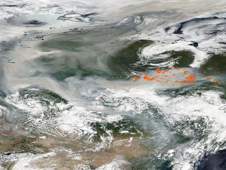 photo nuage fumee siberie satellite nasa