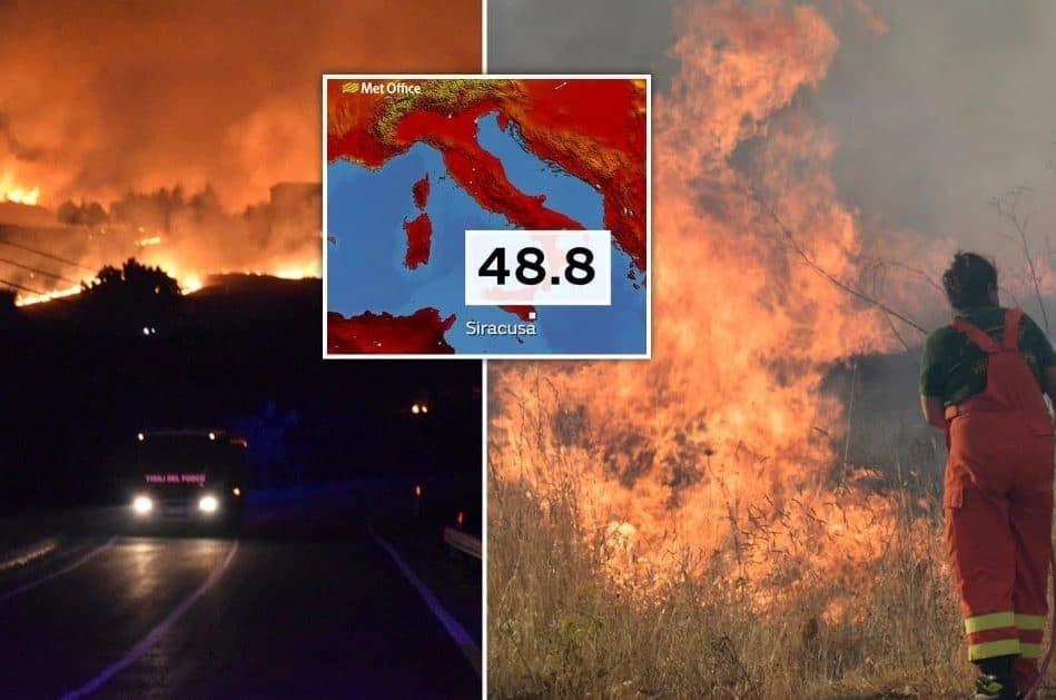 sicile plus haute temperature europe jamais enregistree