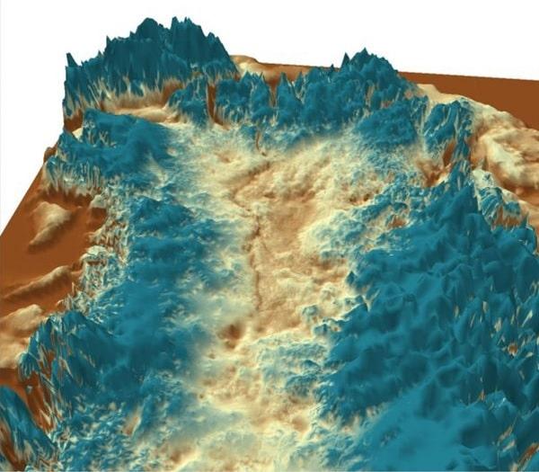 vue 3d canyon groenland