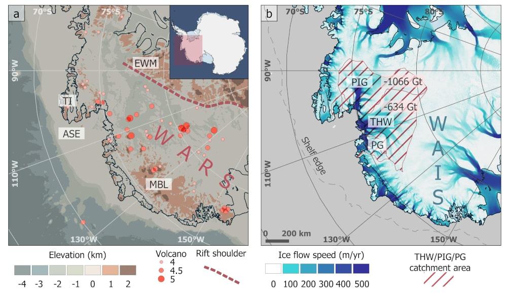 zone volcanique antarctique ouest