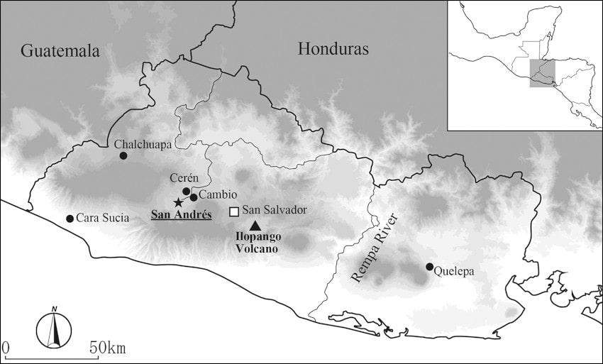 carte site san andrés mayas