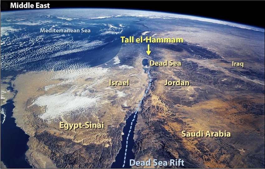 carte site Tall el-Hammam