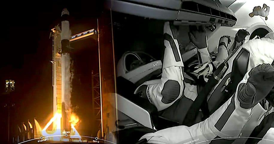 decollage vol spatial touristique SpaceX