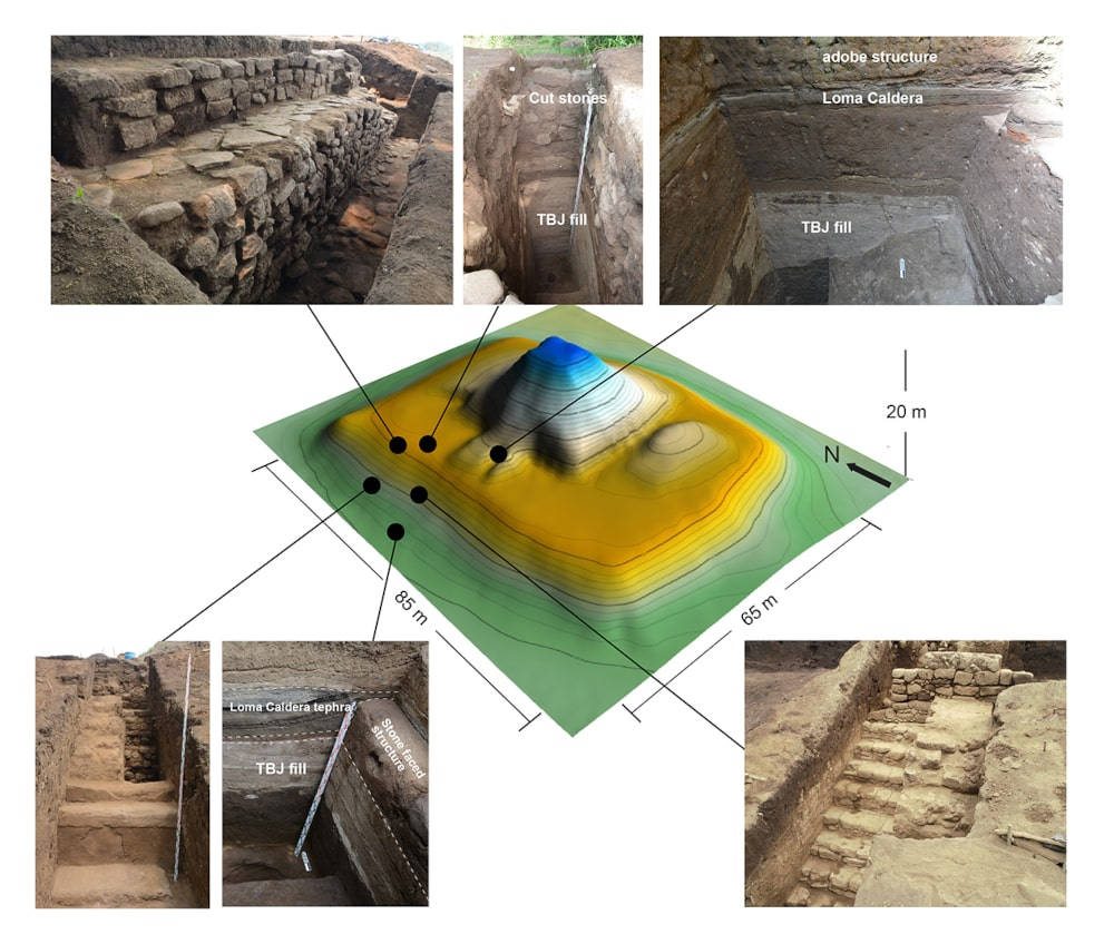 fouilles site maya pyramide