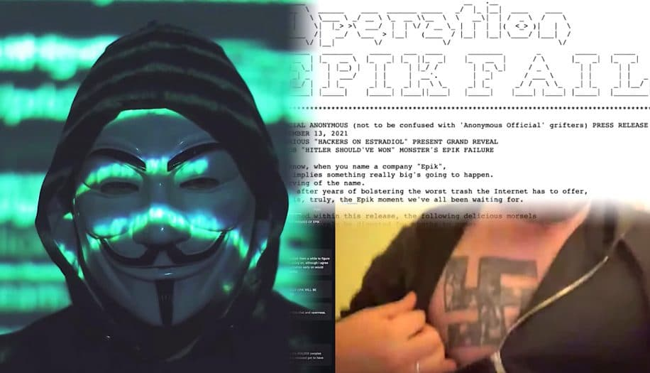 neonazis et centaines extremistes demasques apres piratage hebergeur epik