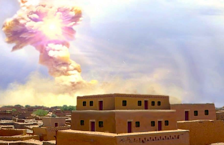 preuve explosion asteroide jordanie vue artiste