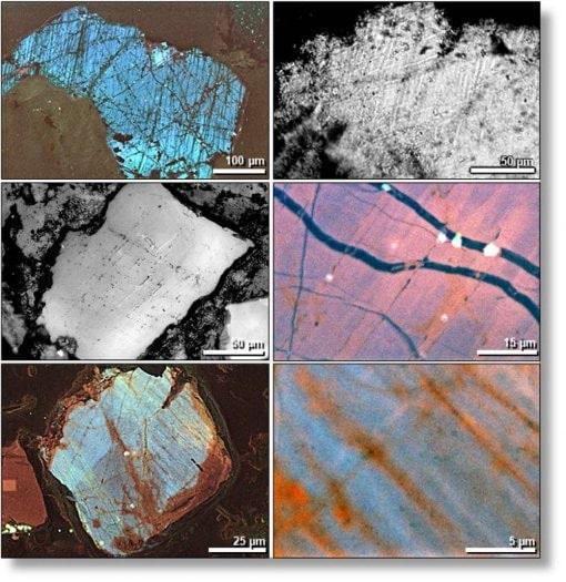 quartz choqué impact astéroïde